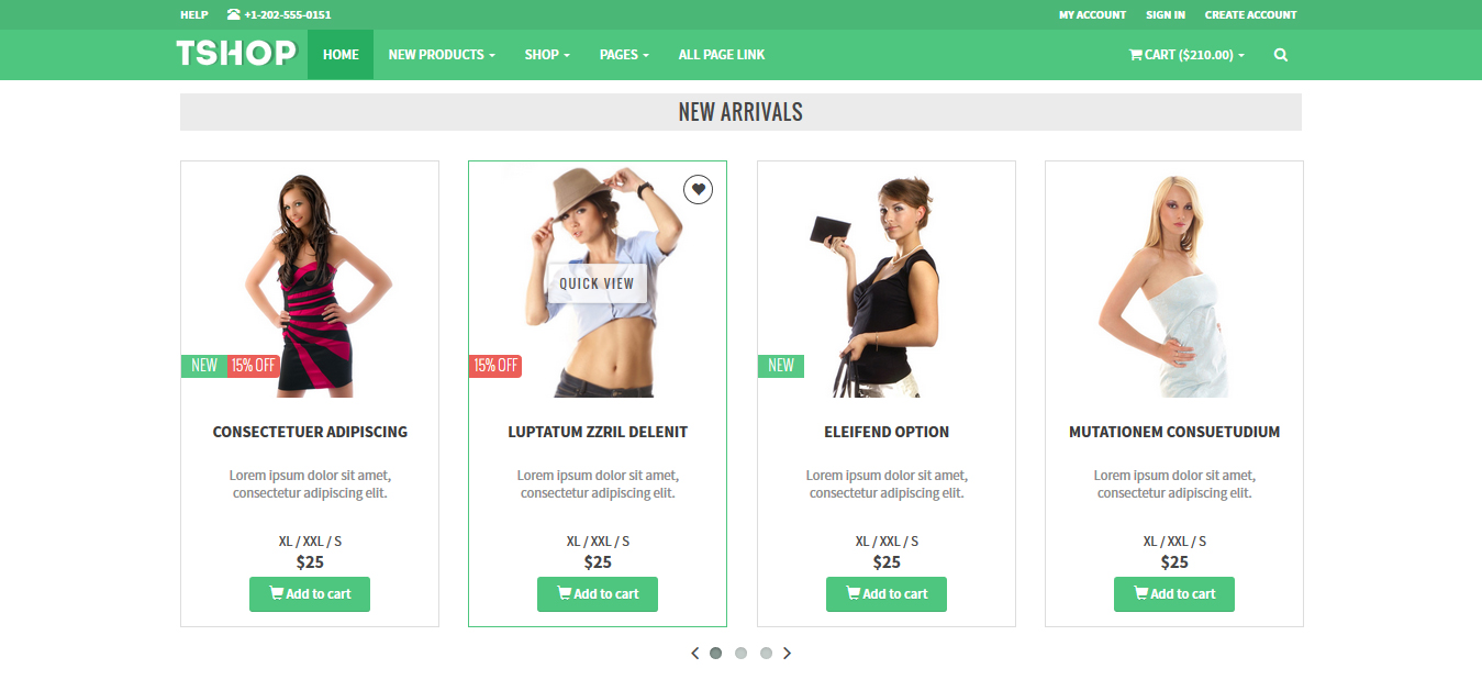 tshop responsive e commerce template live preview wrapbootstrap